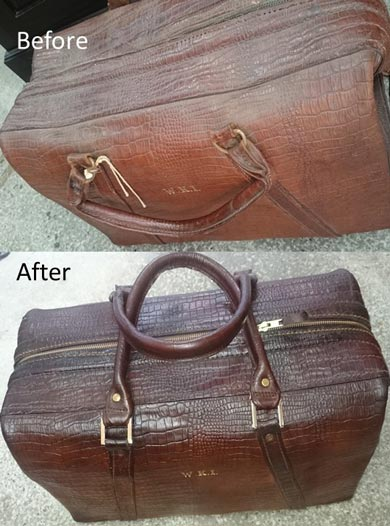 Crocodile leather repair