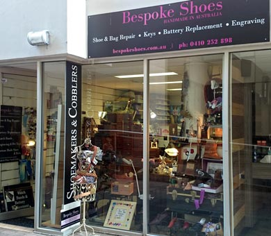 Shoe maker and repair, keys, watches and shoe goods