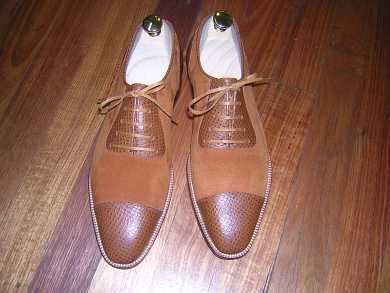 light brown suede oxford